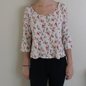 Floral/ flannel blouse